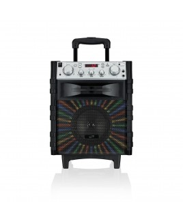 iLive Portable Wireless Tailgate Speaker with FM Radio, AUX-in and LED Lights