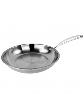 Kung Fu 10 inch 2.5mm Edge Full Stainless Steel Fry Pan
