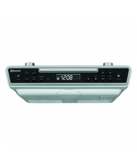 Sylvania Under Counter CD Player with Radio and Bluetooth, Silver