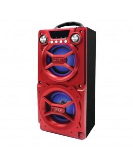 Sylvania Portable Bluetooth Speaker, Red