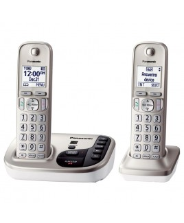 Panasonic Expandable Digital Phone with Answering Machine 2 Cordless Handsets