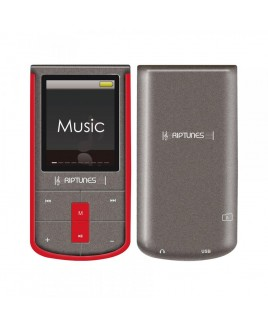 Riptunes 8GB MP4 Player with 1.8-inch LCD and microSD Card Slot, Red