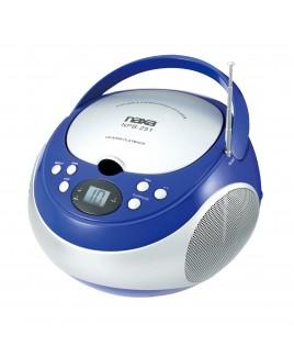 Naxa Portable CD Player with AM/FM Stereo Radio, Blue