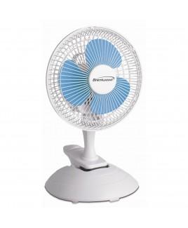 Brentwood 6 inch 2-Speed Convertible Clip / Desk Fan