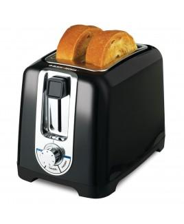 Black & Decker 2-Slice Extra Wide Slot Toaster, Black