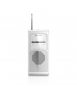 Canon Pocket Size Portable AM/FM Radio - White