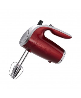 Brentwood 5 Speed Hand Mixer - Red