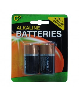 Duracell Alkaline C Batteries 2-Pack Repacked