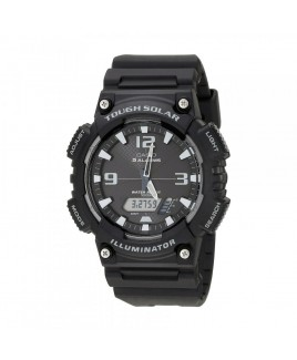 Casio 100M Water Resistant Self-Charging Solar Digital Analog Watch with Black Face