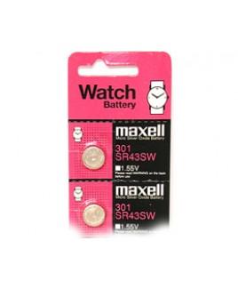 SR 43SW - 301 Watch/Calc. 5 Pack Button Batteries