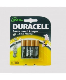 Duracell Pack of 4 AAA Batteries