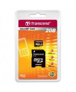 Transcend Micro SD 2GB with Adapter