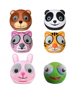 Zoo-Tunes Compact Portable Character Stereo Speakers (Bundle of 6)
