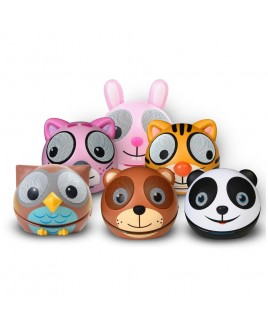 Zoo-Tunes Compact Portable Bluetooth Stereo Speaker (Bundle of 6 Characters)