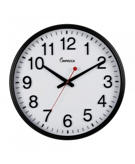IMPECCA Silent Movement 18-inch Wall Clock - Black