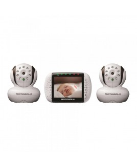 """Motorola MBP36 Remote Wireless Video Baby Monitor with 3.5"""" Color Screen, includes 2 Cameras"""