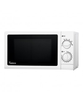 IMPECCA 0.6 Cu. Ft. 700 Watts Countertop Microwave Oven, White