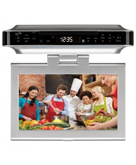 iLive Under Cabinet TV/FM/CD/Bluetooth/DVD Player with 10-inch swivel TFT LCD display