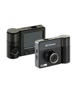 Transcend DrivePro 520 FullHD 1080p Dual Lens Dascam with FREE 32GB Card