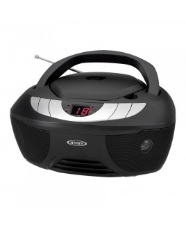 JENSEN Portable Stereo CD Boombox with AM/FM Radio and AUX Line-in
