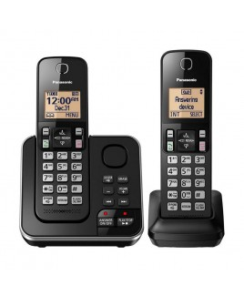 Panasonic 2-Handset DECT Expandable Cordless Phone with Answering System