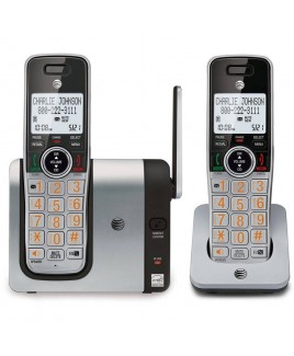 AT&T 2-Handset Cordless System with Caller ID/Call Waiting and Big Buttons