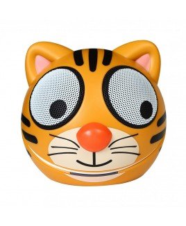 Zoo-Tunes Compact Portable Bluetooth Stereo Speaker, Tiger