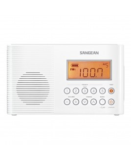 Sangean AM/FM/WX Digital Tuning Water Resistant Shower Radio
