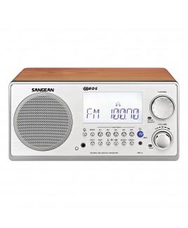 Sangean AM/FM-RBDS Wooden Cabinet Digital Tuning Radio, Walnut