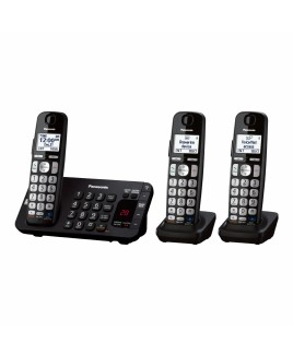 Panasonic Expandable Phone with Talking Caller ID and Dig. Answering System Base Keypad 3-Cordless Handsets