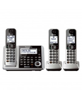 Panasonic Link2Cell Bluetooth Cordless Phone and Answering Machine with 3 Handsets