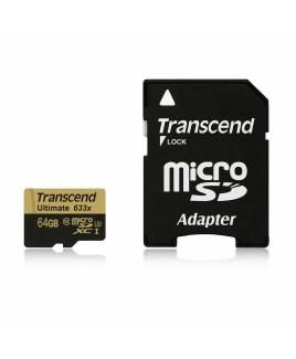 Transcend UHS-I microSDXC 64GB 633x Memory Card U3 with MLC NAND flash chip