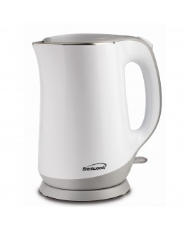 Brentwood 1.7 Liter Cool Touch Electric Kettle - White