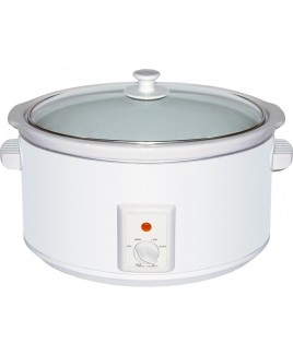 Brentwood SC-165W 8.0 Liter Slow Cooker White Body