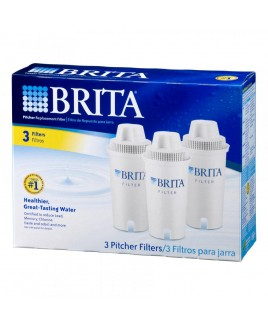 Brita Pitcher Replacement Cartridges, 3 Pack