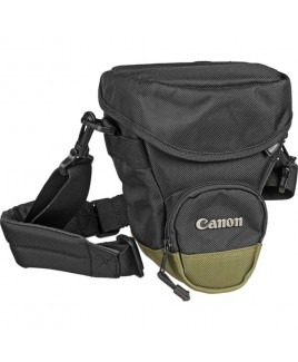 Canon Zoom Pack 1000 Holster Style Bag, Black with Olive Green Trim
