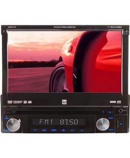 Dual Electronics Flip-out DVD Multimedia Receiver with 7-inch Touch Screen, USB/SD Reader