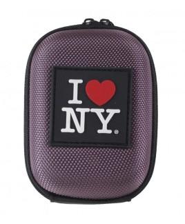 I Love NY DCS45 Compact Hardshell Camera Case - Purple