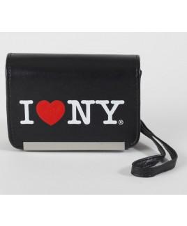 I Love NY DCS86 Compact Leather Digital Camera Case - Black