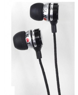 I Love NY EB301 Metal Stereo Earbuds - Black