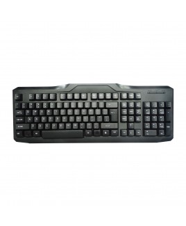 iMicro 107-Key USB Wired English Keyboard - Black
