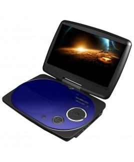 IMPECCA 9 Inch Swivel Portable DVD Player, Blue