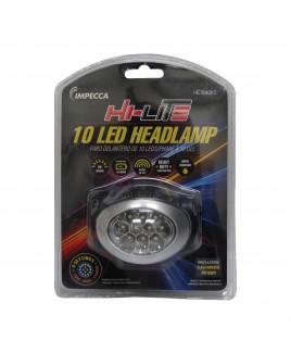 IMPECCA Hi-Lite 10-LED Headlamp, Black/Silver