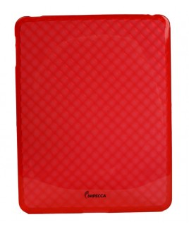 IMPECCA IPS121 Diamond Bubble Flexible TPU Protective Skin for iPad - Red