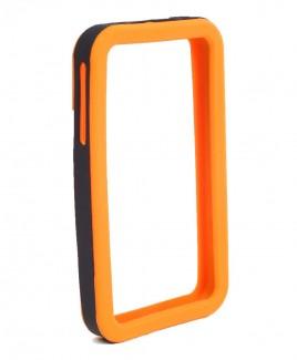 IMPECCA IPS226 Secure Grip Rubber Bumper Frame for iPhone 4™ <em>Dual Color</em> - Orange/Black