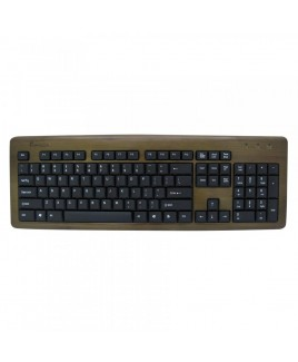 IMPECCA KBB103 Bamboo Designer Keyboard Walnut Color