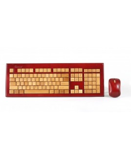 IMPECCA KBB604CW Wireless Hand-Carved Designer Bamboo Keyboard - Mahogany Color