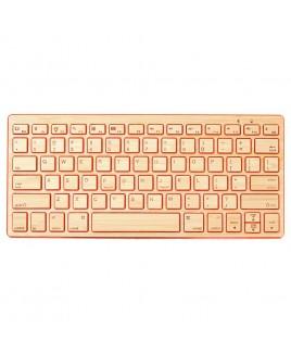 IMPECCA Compact Bluetooth Wireless Bamboo Keyboard, Orange
