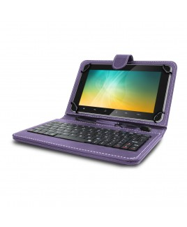 IMPECCA Universal Mini Keyboard Case & Stand For 7 Inch Tablets - Purple