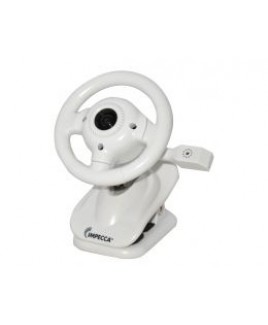 IMPECCA WC100 Steering Wheel Webcam with Built-in Mic White